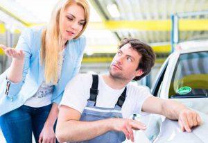 Paintless Dent Repair customer getting advice